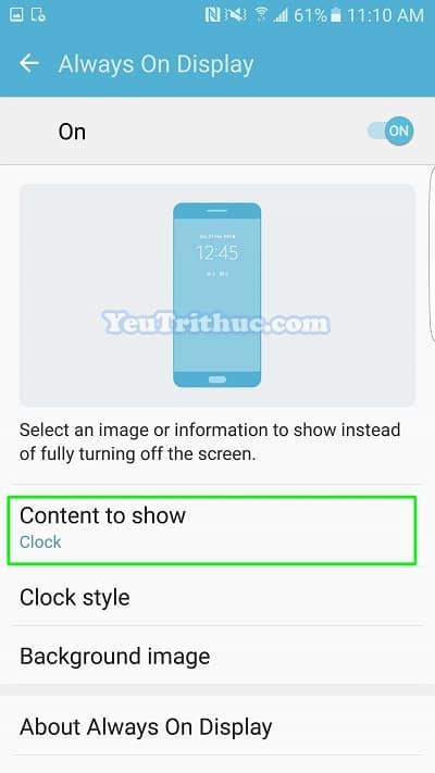 Cách bật tắt, thiết lập Always On Display trên Galaxy S7, S7 Edge 6