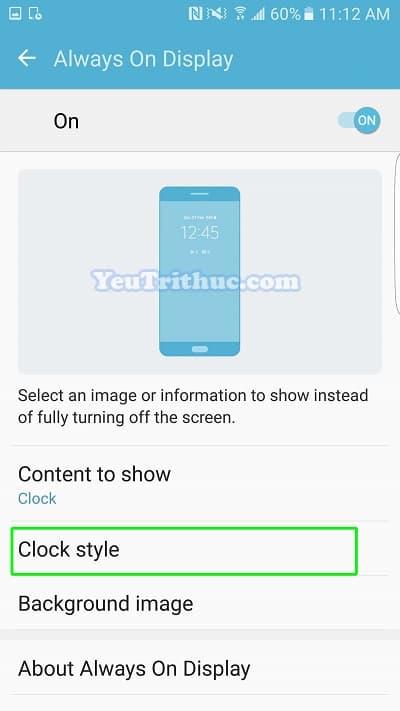 Cách bật tắt, thiết lập Always On Display trên Galaxy S7, S7 Edge 8