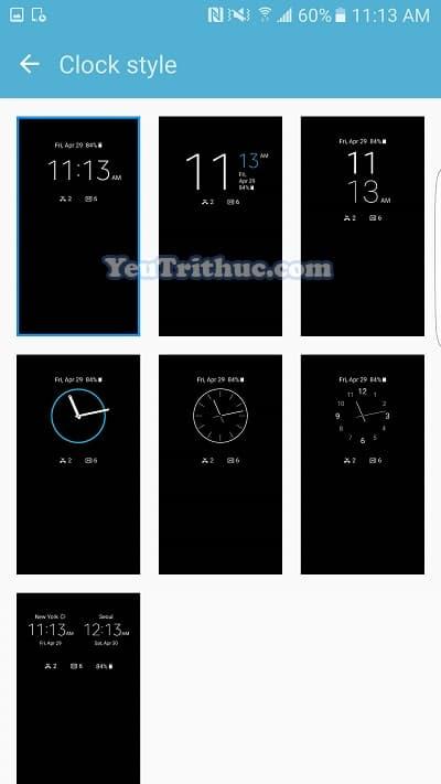 Cách bật tắt, thiết lập Always On Display trên Galaxy S7, S7 Edge 9