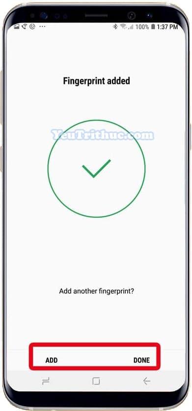 Cách thiết lập cài đặt cảm biến dấu vân tay trên Galaxy Note 9 6