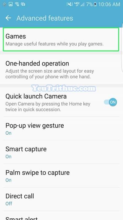 Cách bật tắt, cài đặt Game Launcher trên Galaxy S7 và S7 Edge 5