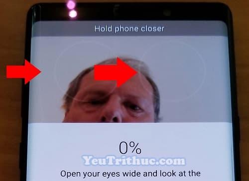 Cách kích hoạt, cài đặt quét mống mắt Iris Scan trên Galaxy Note 9 6