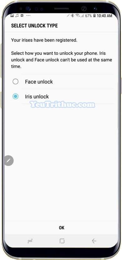Cách kích hoạt, cài đặt quét mống mắt Iris Scan trên Galaxy Note 9 7