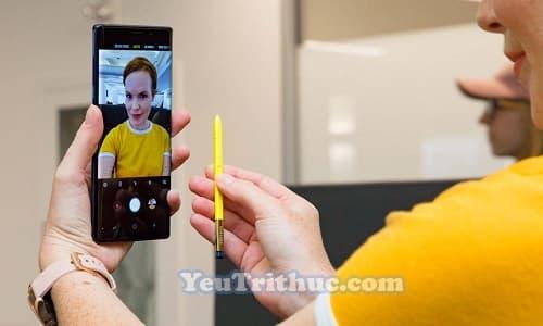 Cách chụp ảnh Selfie bằng bút từ S Pen trên Galaxy Note 9 tự sướng 11