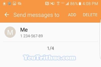 Cách bật tin nhắn khẩn cấp Send SOS Messages trên Galaxy S7, S7 Edge 10