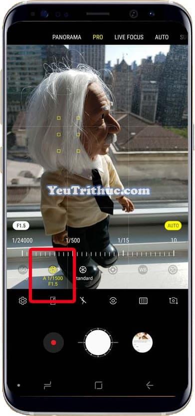 Cách điều chỉnh thay đổi khẩu độ camera trên Galaxy Note 9 thủ công 4