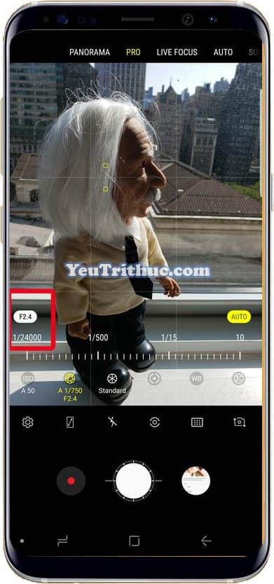 Cách điều chỉnh thay đổi khẩu độ camera trên Galaxy Note 9 thủ công 5