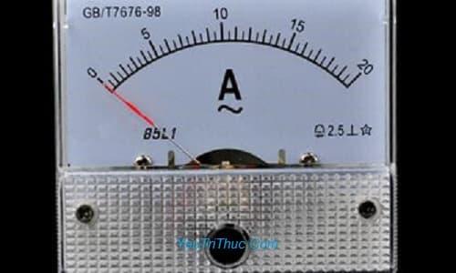 1 ampe bằng bao nhiêu w-watt, V-Volt, mA cường độ dòng điện