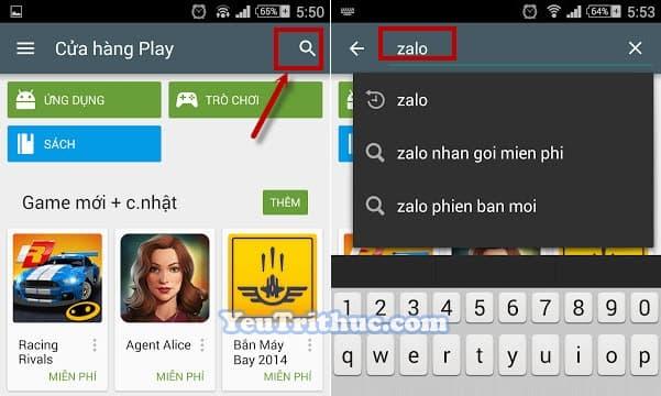 Cách cài đặt ứng dụng Zalo trên smartphone Android từ Google Play 2