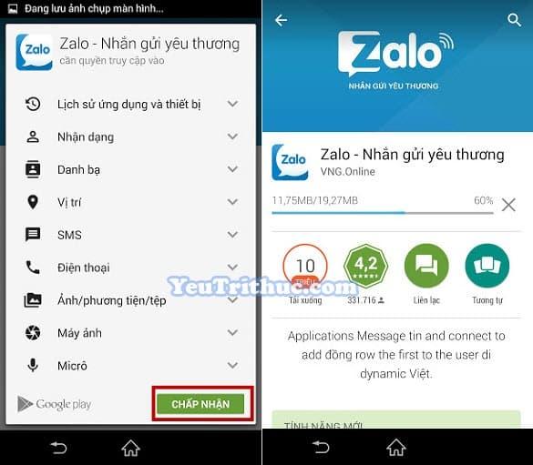Cách cài đặt ứng dụng Zalo trên smartphone Android từ Google Play 4