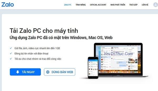 Hướng dẫn cách cài đặt Zalo trên máy tính, PC, laptop Windows 1