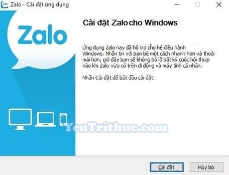 Hướng dẫn cách cài đặt Zalo trên máy tính, PC, laptop Windows 3