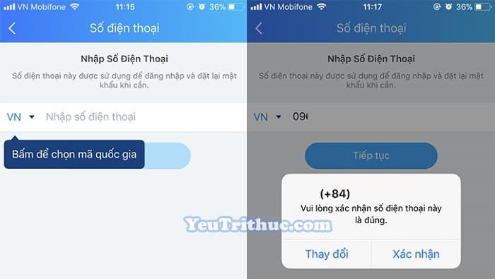 Cách đăng ký tạo tài khoản nick Zalo trên iPhone chạy iOS 4
