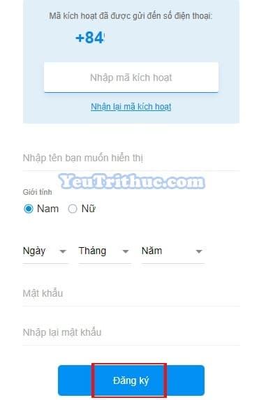 Cách đăng ký tạo tài khoản nick Zalo trên nền web bằng trình duyệt 2