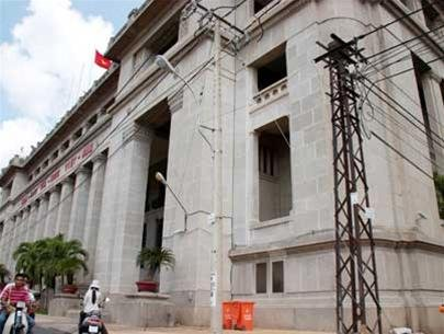 Trụ sở Ngân hàng quốc gia (nay là Ngân hàng Nhà nước VN tại TP.HCM) - nơi cất giữ 16 tấn vàng vào tháng 4-1975 - Ảnh: N.C.T.