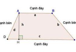 Chu vi hình thang, công thức cách tính chu vi hình thang vuông, cân 1