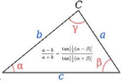 Định lý Tang là gì, phương trình và công thức định lý Tang trong tam giác 1