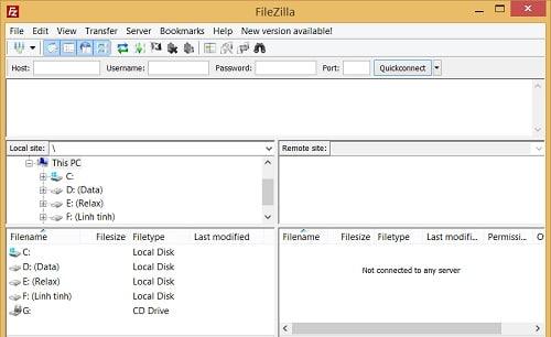 FileZilla là gì, cài đặt và cách sử dụng phần mềm FTP FileZilla Client 3