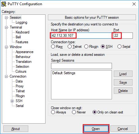 PuTTY là gì, cách sử dụng phần mềm PuTTY kết nối với server 1